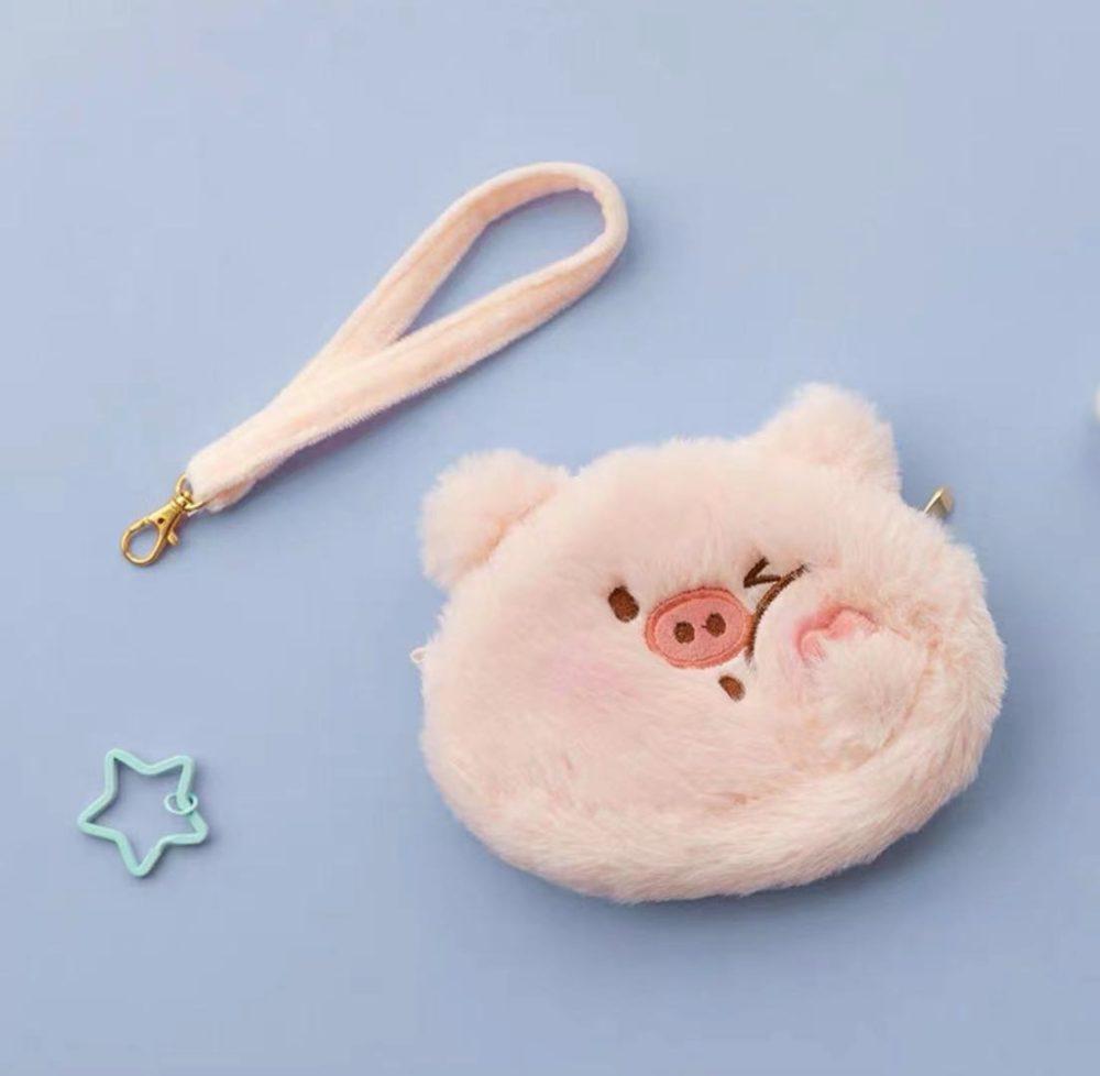 piggy coin plush purse