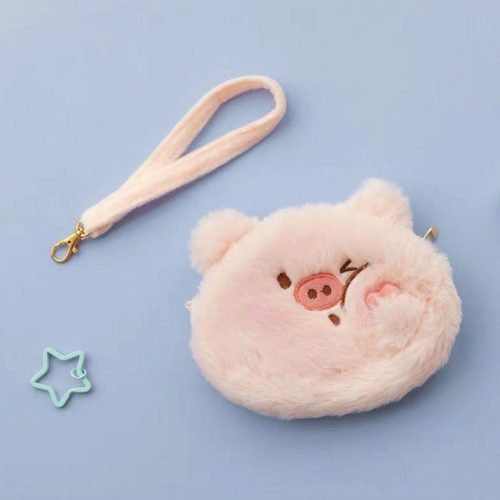 piggy coin plush purse