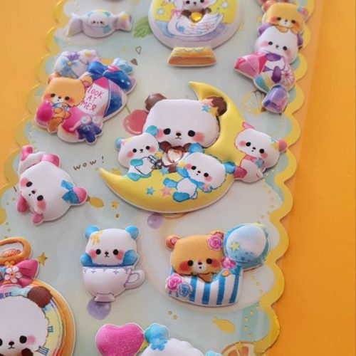kawaii magical super puffy 3d stickers sheet