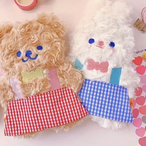 bunny kawaii stationery holder australia shop plush