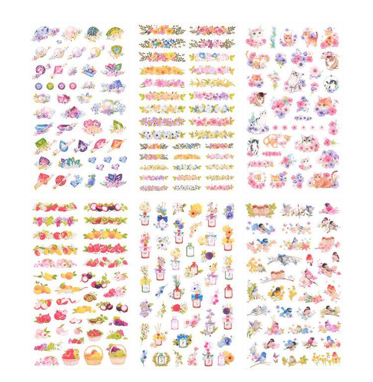 pretty-kitten-cat-flowers-birds-bottles-stickers-all