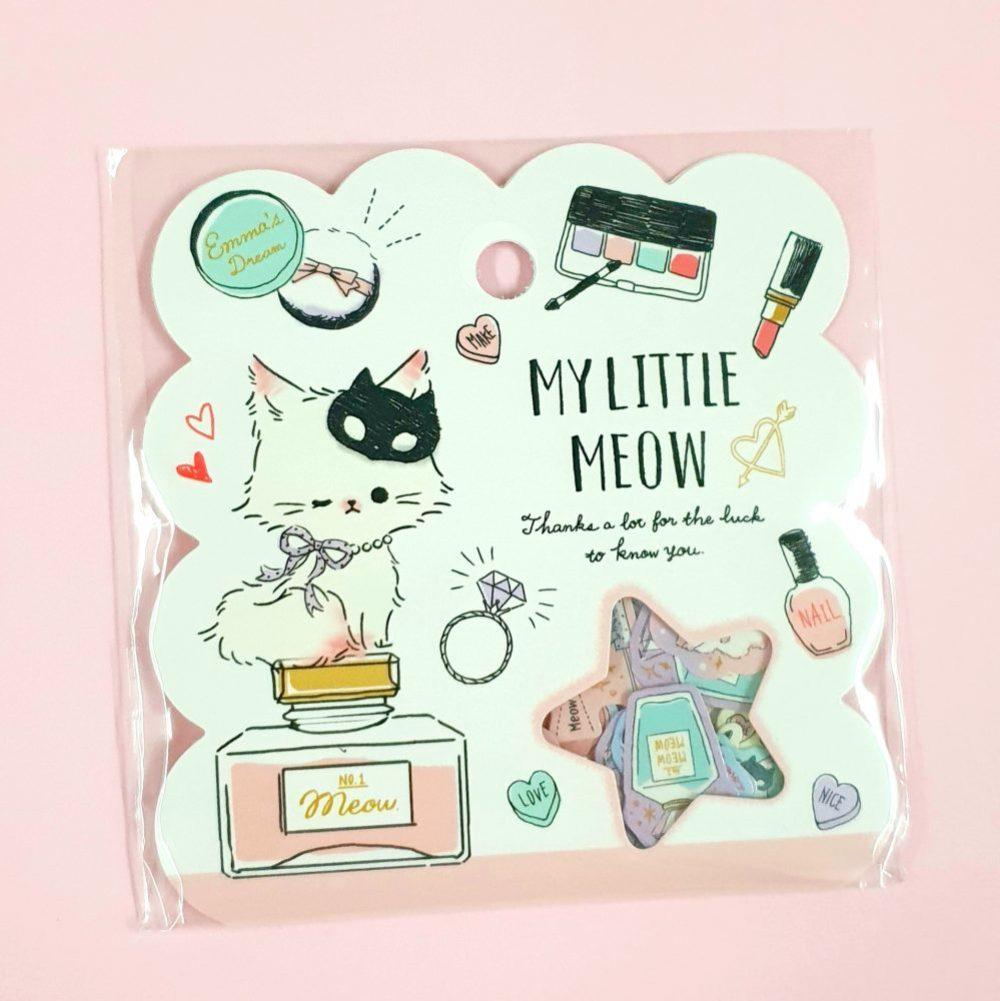 my little meow kawaii kitten qlia japanese sticker flakes