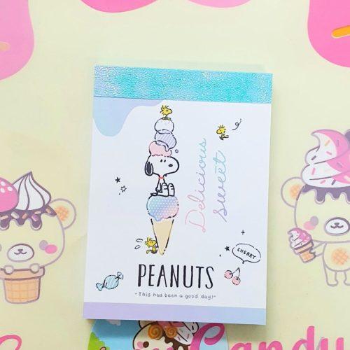 Snoopy memo pad kawaii japan peanuts licensed buy online store