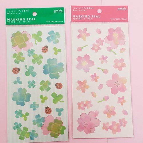 Four Leaf Clover and Cherry Blossom Sakura Planner stickers