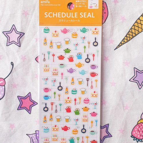 Mini baking cooking planner stickers sheet