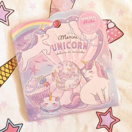 Crux japan kawaii unicorn mermaid stickers sack
