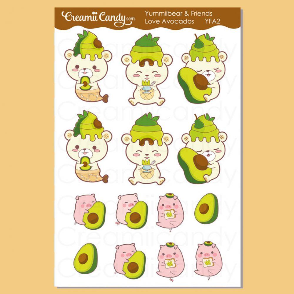 cute-bear-pig-avocados-planner-sticker-sheets