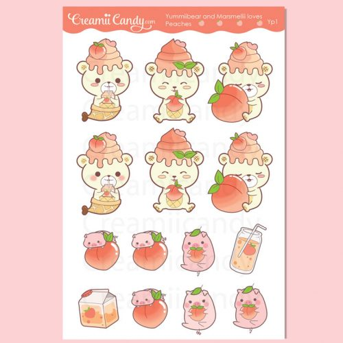 cute-yummii-bear-pig-marshmellii-peaches-sticker-sheet-kawaii-planner-stickers-yp1