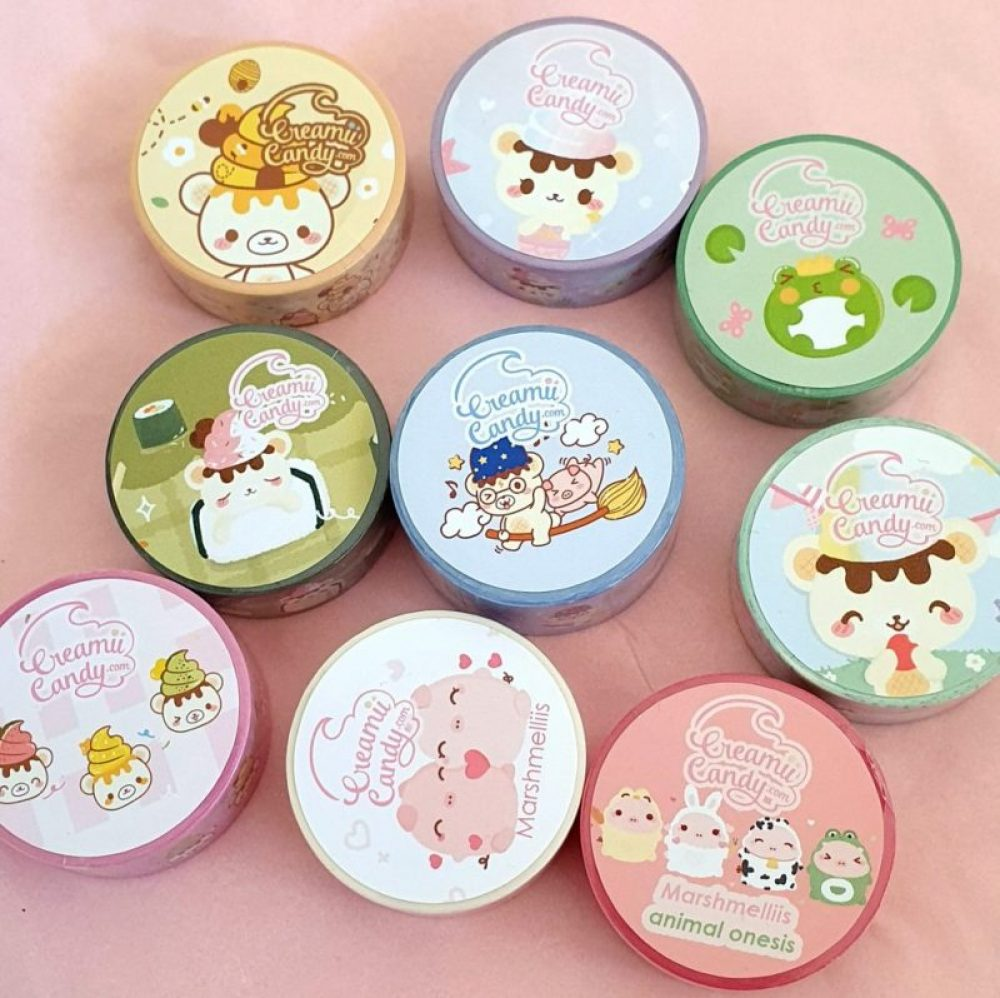 cute japanese washi tapes collection bundle