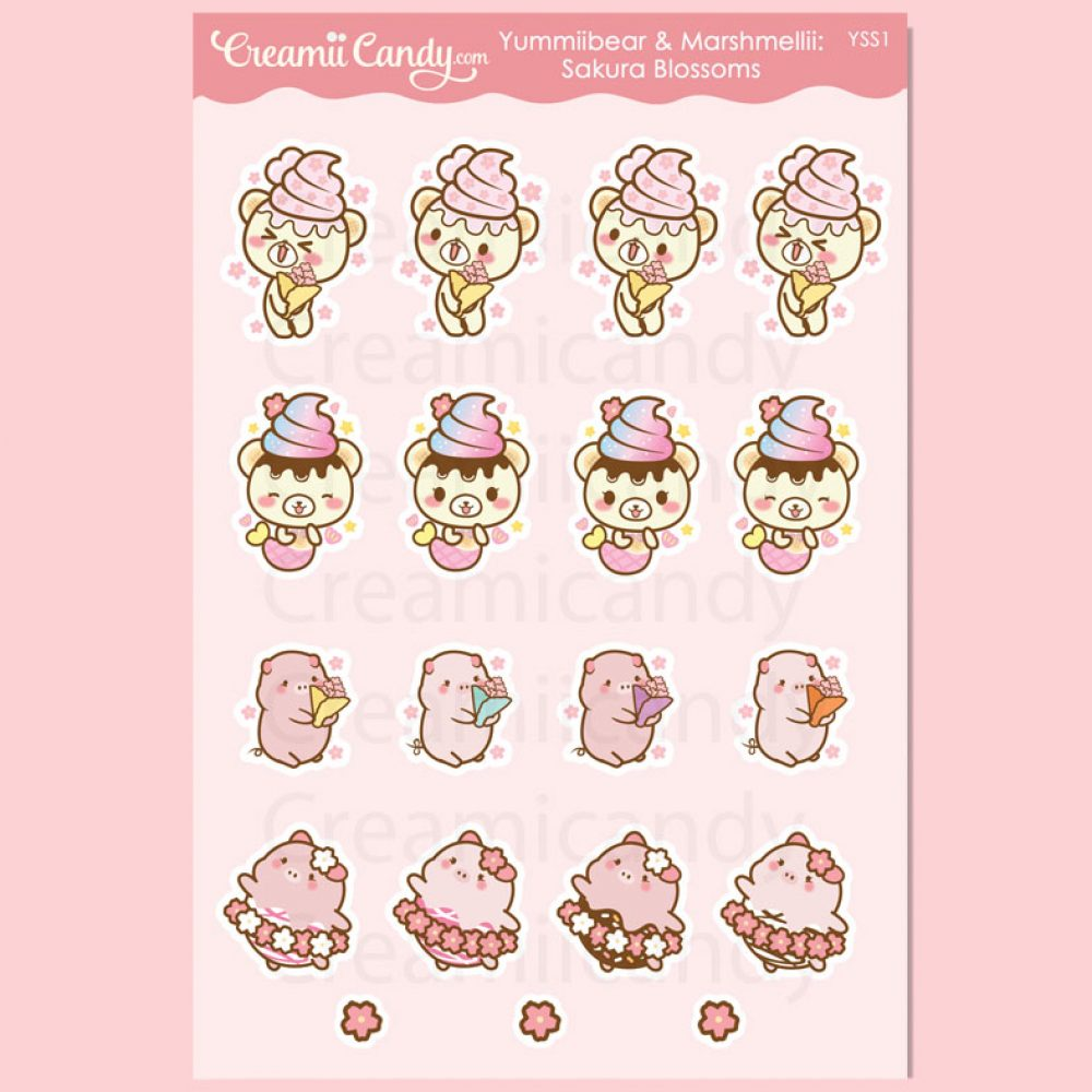 yummiibear-sakura-blossoms-pig-bear-planner-stickers-cute-aesthetic-pink-australia-yss1
