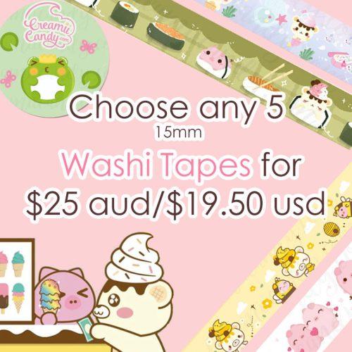 Cute washi tapes bundle